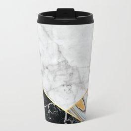 White Marble Black Granite & Blue Marble #325 Travel Mug