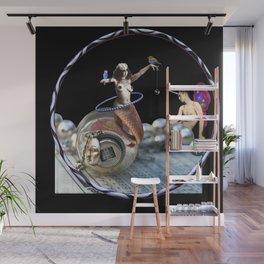 The Fiddlebittery Mermaid Hooper & Her Fairy Unicorn Boy Wall Mural