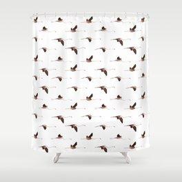 Winter Flamingos Shower Curtain