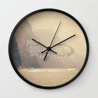 infinite Wall Clocks featuring Infinite by Kimberley Britt