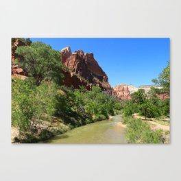 Virgin River At Zion Park Canvas Print