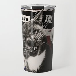 God Save The Queen Cat Travel Mug