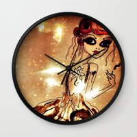 sassy Wall Clocks featuring Sassy by Sanoe Watt