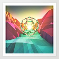 Geo Canyon Art Print