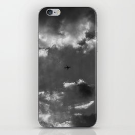 Plane and storm iPhone Skin