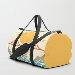 San Francisco Golden Gate Bridge Illustration Duffle Bag