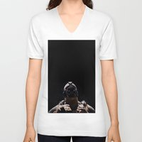 league V-neck T-shirts featuring League of Shadows by Chuck Jackson