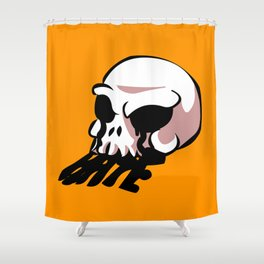 skull old school tattoo  Shower Curtain