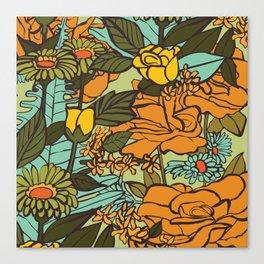 retro garden Canvas Print