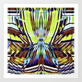 Candy Stripe Gum Art Print