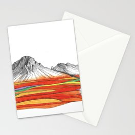 Mountain Landscape Contemporary Art, Mountain drawing, Modern Art, nature , Abstract Art, Mountains Stationery Cards