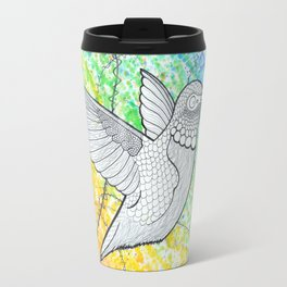 Rainbow Hummingbird Travel Mug