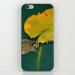 Baby Turtle And Lily Pad iPhone Skin