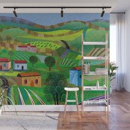 Santa Barbara Wine and Cheese Wall Mural