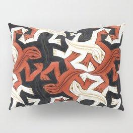 Escher lizard Pillow Sham