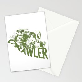Rc car rock crawler or scaling scale rc truck off-road racing Stationery Cards