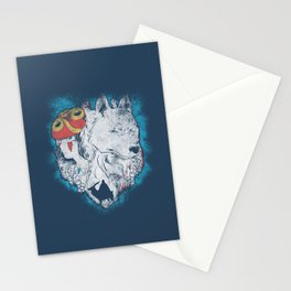 The princess and the wolf Stationery Cards