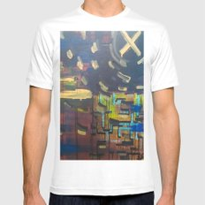 Landscape/Towers White MEDIUM Mens Fitted Tee