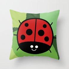 Cutesy Crawlies — Ladybird Throw Pillow