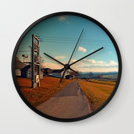 Scenic view at indian summer | landscape photography Wall Clock