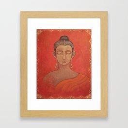Buddha in Orange Framed Art Print