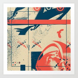 Fragments Tile 3/12 Art Print