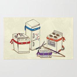 Teenage Mutant Ninja Kitchen Appliances Rug