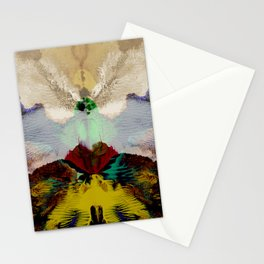 the peacock and the crane Stationery Cards
