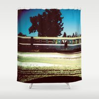 train Shower Curtains featuring Train by Ibbanez