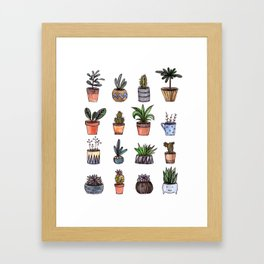 home plants Framed Art Print