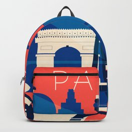 Abstract Paris Backpack
