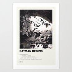 The Bat Begins Art Print