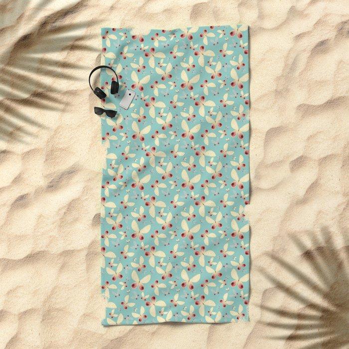 Sweet Butterflies Beach Towel