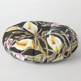 Arum Lily Artistic Floral Design Floor Pillow