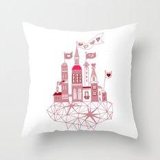 transparent city of love Throw Pillow