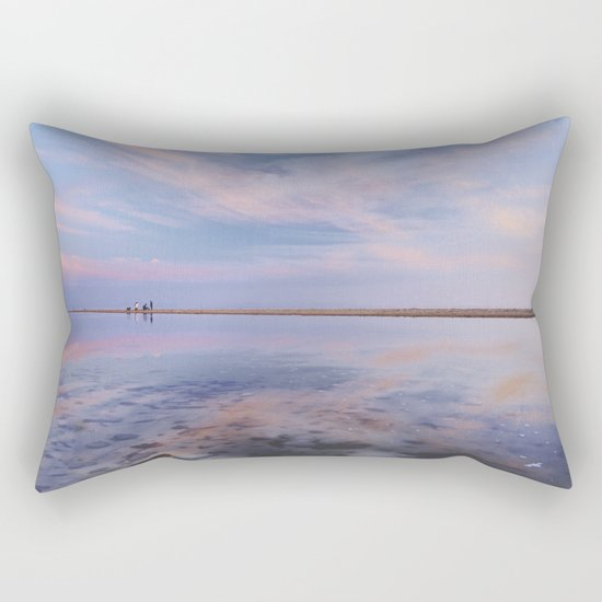 """Heaven walk"". Tarifa beach Rectangular Pillow"