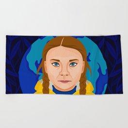 Greta Thunberg Beach Towel