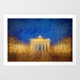 Modern Art BERLIN Brandenburg Gate Art Print
