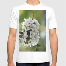 Cluster Fuhlowers. MEDIUM White Mens Fitted Tee