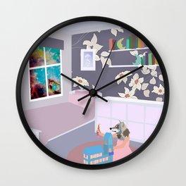 young pup Wall Clock