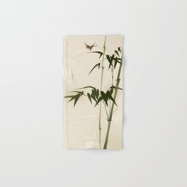 Oriental style bamboo branches 001 Hand & Bath Towel