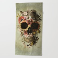 Garden Skull Light Beach Towel