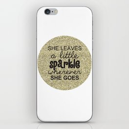 She Sparkles iPhone Skin