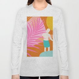 Noon Surfer Abstract Minimalism #2 #minimal #decor #art #society6 Long Sleeve T-shirt
