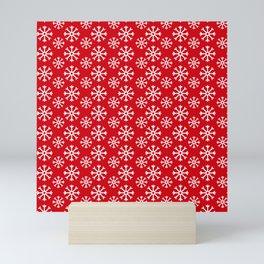 Winter Wonderland Snowflake Snowfall Christmas Pattern Mini Art Print