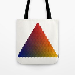 Lichtenberg-Mayer Colour Triangle variation, Remake using Mayers original idea of 12+1 chambers Tote Bag