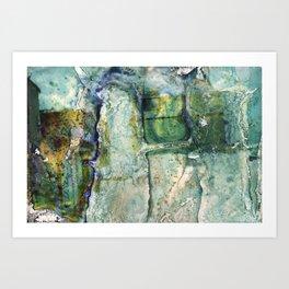 Water Damaged Photo No. 6 Art Print
