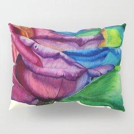 Open Up (Rainbow Rose) Pillow Sham