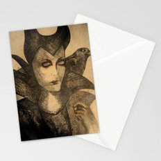 maleficent sketch Stationery Cards