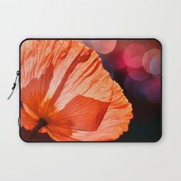 Catch the Light & Throw it Back - orange poppy macro with bokeh Laptop Sleeve